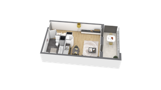 appartement A208 de type T1