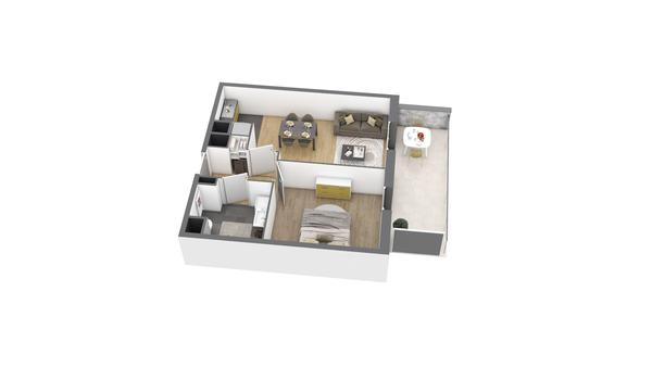 appartement A309 de type T2