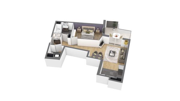 appartement A310 de type T2