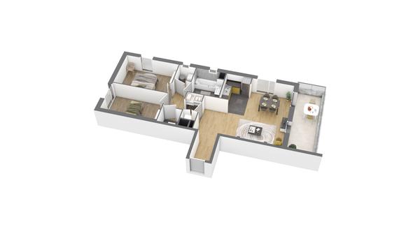 appartement B102 de type T3