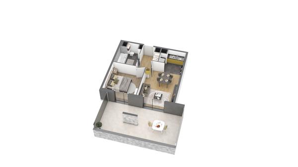 appartement B105 de type T2