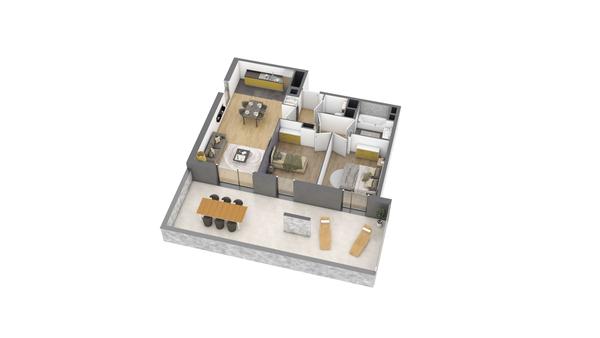 appartement B106 de type T3