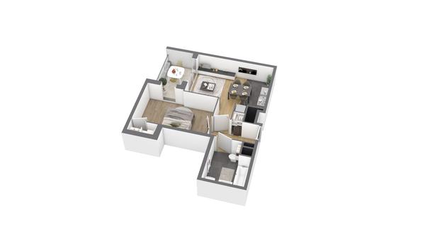 appartement B201 de type T2