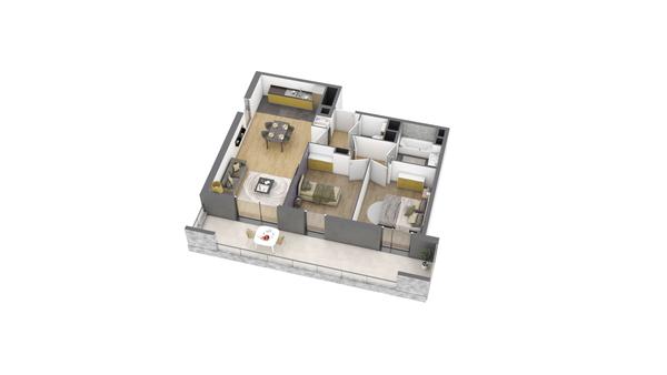 appartement B206 de type T3