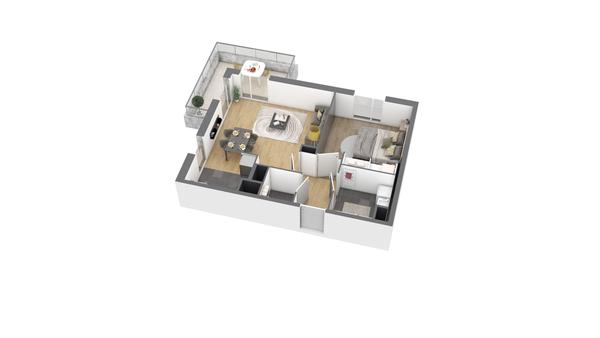 appartement B207 de type T2