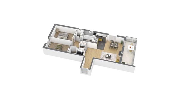 appartement B302 de type T3