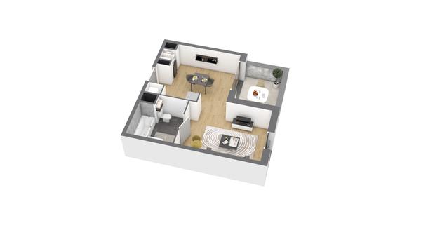 appartement B303 de type T1