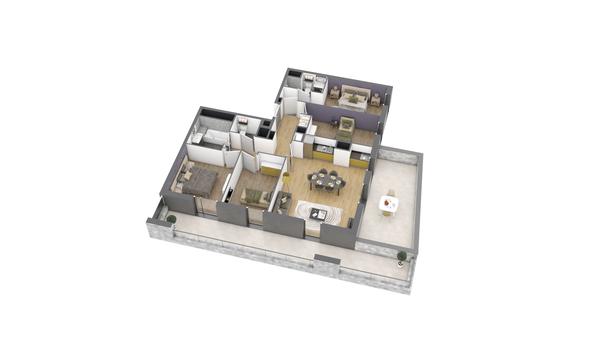 appartement B304 de type T4