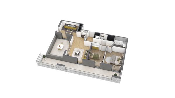 appartement B305 de type T3