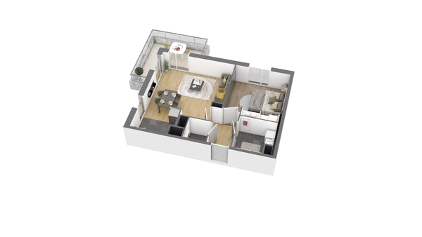 appartement B306 de type T1